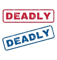 Deadly Rubber Stamps vector