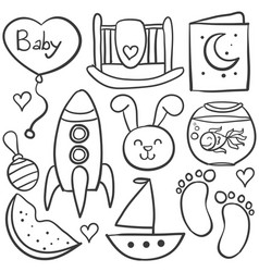 Doodle of toy baby style object vector