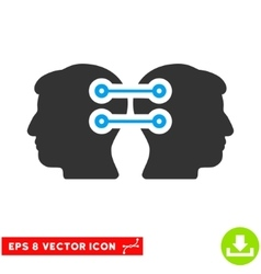 Dual Heads Interface Connection Eps Icon vector
