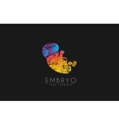 Embryo logo design silhouette of embryo baby in vector