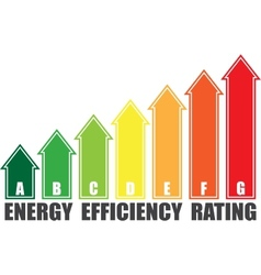 Energy efficiency arrows vector image