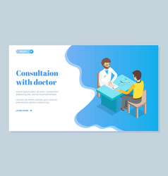 example medical consultation web site for vector image