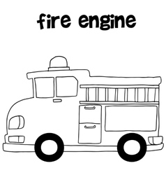 Fire engine art vector image