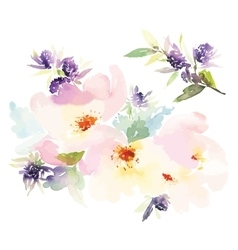 Flowers watercolor vector