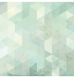 geometric retro background with grunge texture vector image