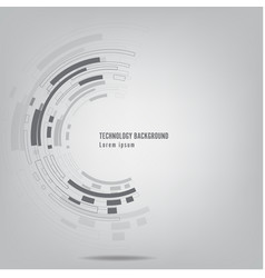 grey abstract technology background vector image