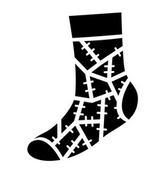 Halloween sock icon simple style vector