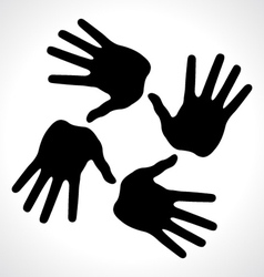 hand prints icon vector image