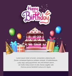 Happy birthday design with colorful birthday vector