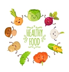 Healty food cartoon representing vector image