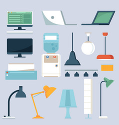 home and office electronics set vector image