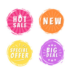 hot sale new big deal special offer promo stickers vector image