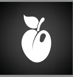 Icon of plum vector