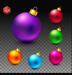 Image of bright and luminous realistic christmas vector