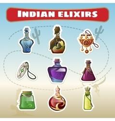 Indian set of elixirs vector