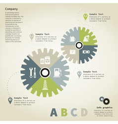 Info graphic gear wheel vector