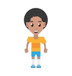 Isolated man player soccer cartoon vector