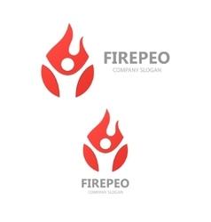 logo combination of a man and fire vector image