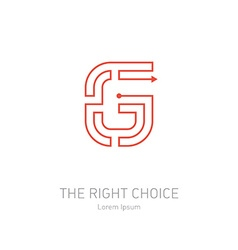 logo design template letter G Concept idea of the vector image