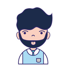 man teacher with hairstyle and uniform clothes vector image