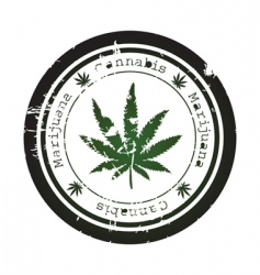 Marijuana leaf vector