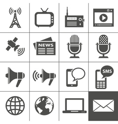 Media icons set - Simplus series vector