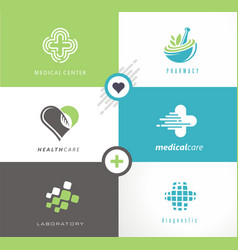 Medical and health care logo vector