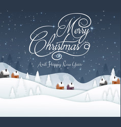 merry christmas and happy new year 2019 and blue n vector image