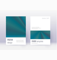 minimalistic cover design template set red abstra vector image