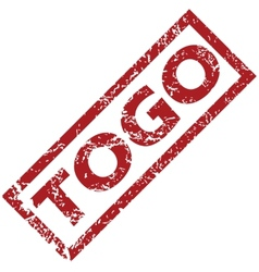New togo rubber stamp vector
