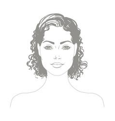 Portrait attractive girl vector