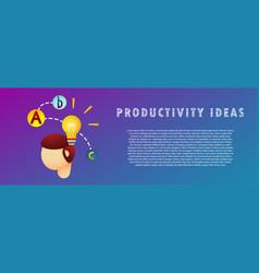 Productivity ideas vector