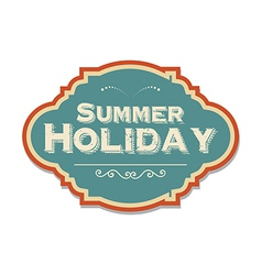 retro summer holiday label vector image