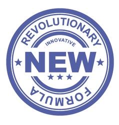 Revolutionary new formula - rubber stamp vector