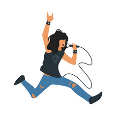 rock and roll singer vector image