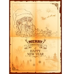 Santa Claus in Merry Christmas and Happy New Year vector