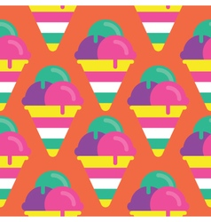 Seamless Ice cream pattern icon vector image