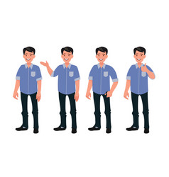 set characters a handsome man in casual vector image