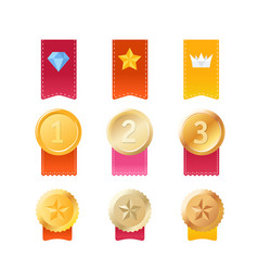 set of different prizes vector image