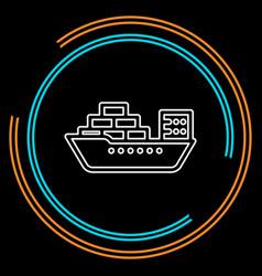 shipping boat - travel vector image