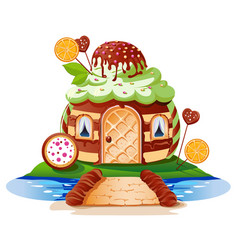 sweet little house vector image