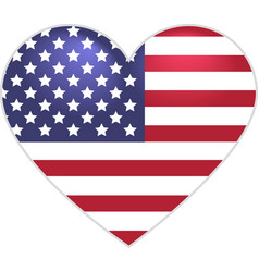 Symbol US flag heart shape vector