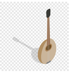 Traditional turkish music instrument isometric vector