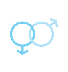 two males gender signs sexual symbols valentines vector image