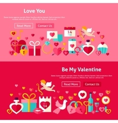 Valentine Day Website Banners vector image