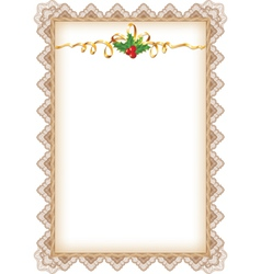 Vintage christmas page vector