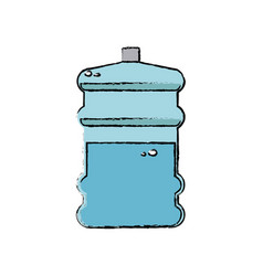Water bottle big plastic dispenser vector