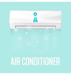 White color air conditioner machine isolated on vector image