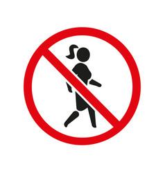 woman icon no walk lady black symbol vector image