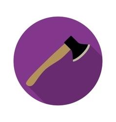 Axe icon with long shadow vector image